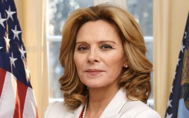 サマンサ・ジョーンズがスウェーデンの犯罪スリラーのアメリカ大統領であることを私たちは皆知っていましたか?