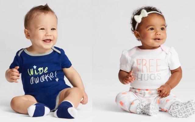 Target vend des vêtements pour bébés à 50% de réduction, car tous les bébés sont en désordre