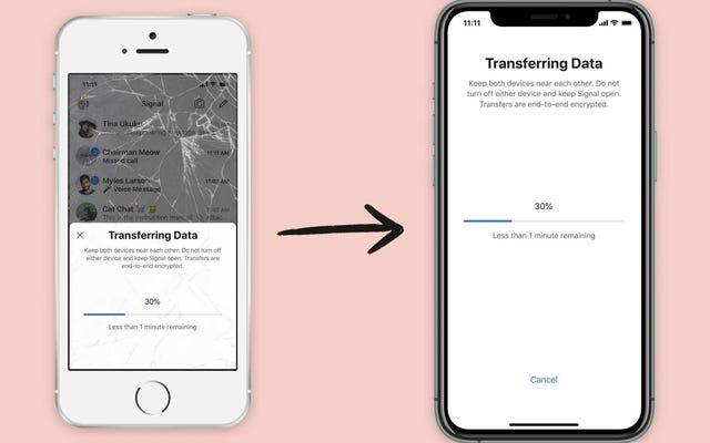 Как безопасно перенести свою учетную запись Signal на новый iPhone