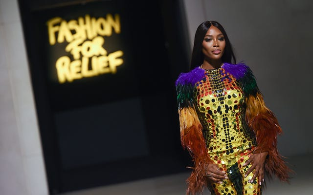 London Calling: Naomi Campbell Struts Ke London Fashion Week With Fashion For Relief