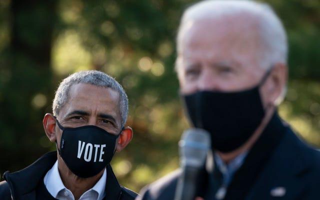 バラク・オバマは、バイデンが略奪者に厳しい話をしている間、ドーンテ・ライトの射撃について完全かつ透明な調査を要求します