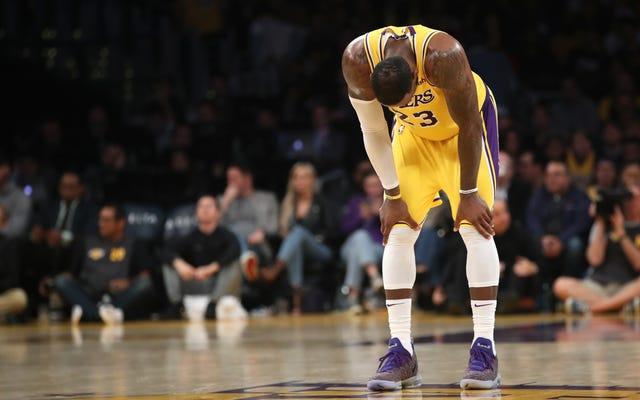 Les Lakers sont épuisés, épuisés et probablement morts