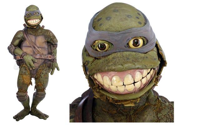 Никто не хотел покупать оригинальный костюм Леонардо из фильма «Черепашки-ниндзя», выставленный на аукцион.