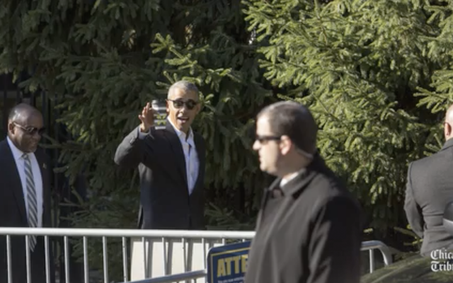 元大統領バラクオバマは、彼がいるモデル市民のように水曜日にシカゴで陪審義務のために現れました
