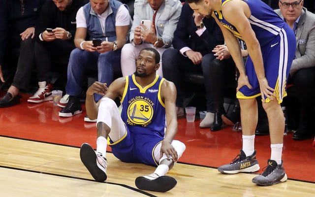 Kevin Durant a rompu son tendon d'Achille et les guerriers sont choqués