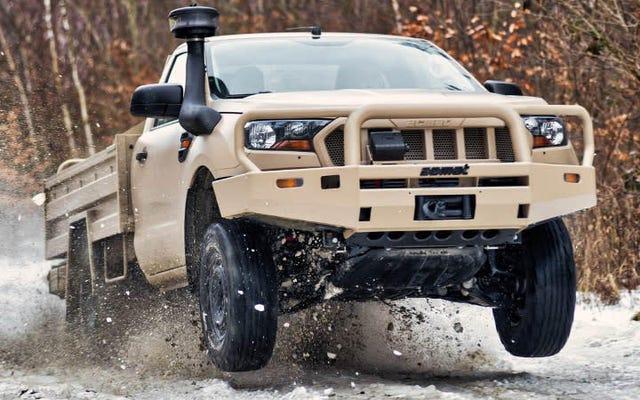 新しいフォードレンジャーとエベレストは軍用車両として絶対に悪いように見えます