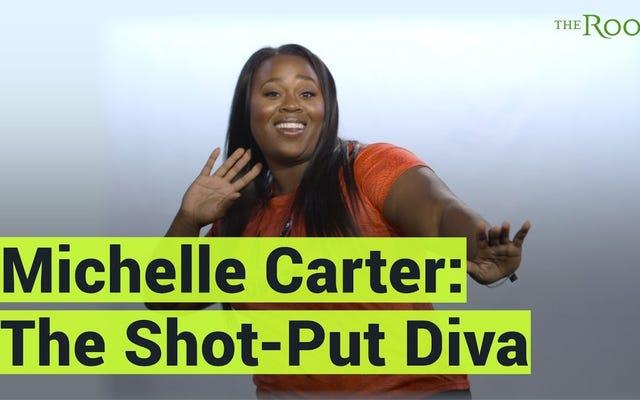 ウォッチ:砲丸投げの歌姫、ミシェル・カーター、あなたの体を愛することについて、あなたのサイズは関係ありません