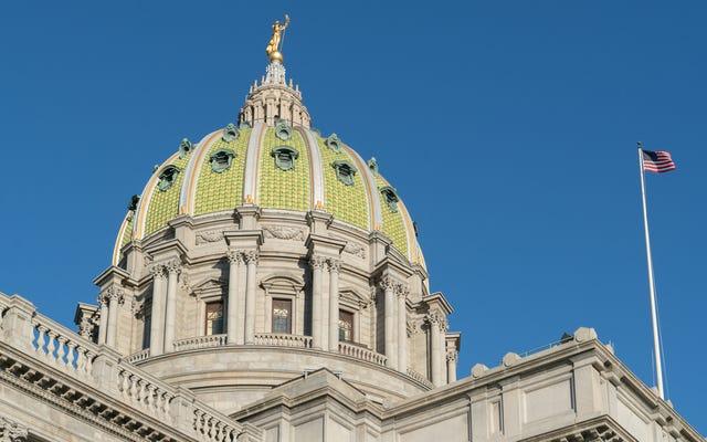 ペンシルベニア州の共和党員は、新たに選出された民主党員の着席を拒否しました。
