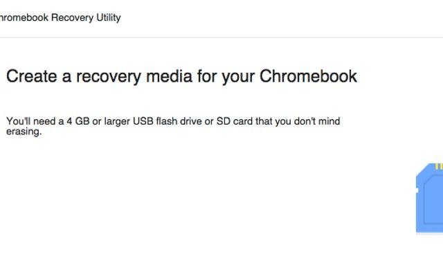 Chromebookリカバリユーティリティは、Chromebookのリカバリメディアを作成します