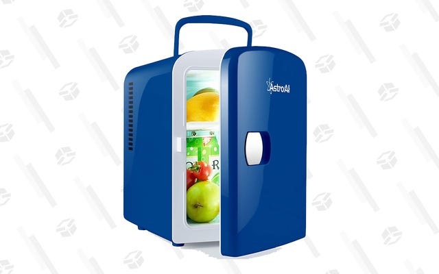 この49ドルのポータブルミニ冷蔵庫は、飲み物や薬などを収納できます