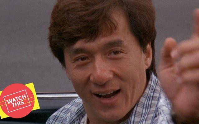 Proprio prima dell'ora di punta, Jackie Chan ha corso il percorso a ostacoli di Mr. Nice Guy
