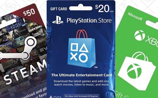 Купите игровую подарочную карту, получите вторую со скидкой 20%