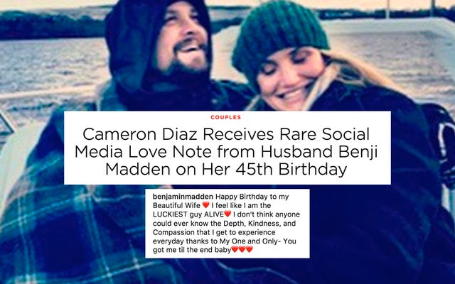 ベンジー・マッデンがキャメロン・ディアスの誕生日をInstagramで願い、人々は喜ぶ