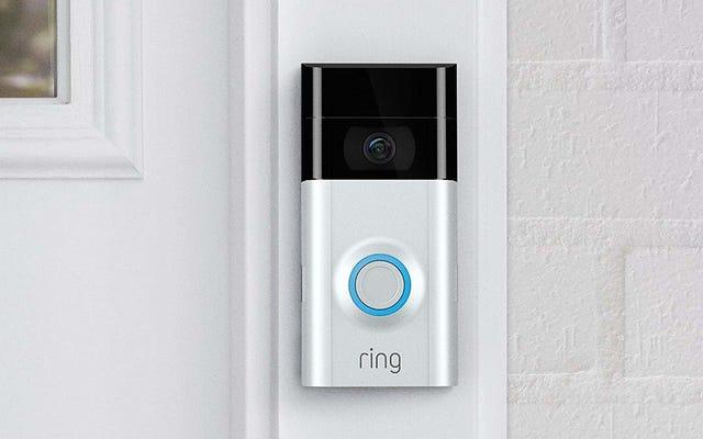 La Ring Doorbell 2 à 200 $ n'est remise à neuf qu'à 99 $, avec un carillon en prime gratuit