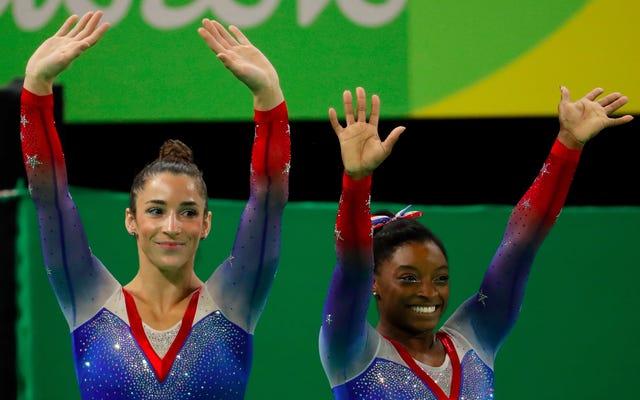 Simone Biles se lleva su cuarta y última medalla de oro en Río en el piso como Aly Raisman obtiene la plata