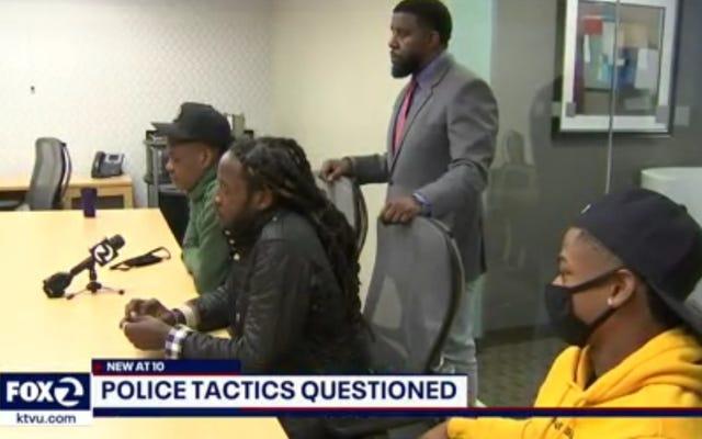 3人の黒人男性がサンフランシスコ警察によって彼らの1人が銃を振り回したという誤った主張で何時間も高級小売店に拘留された