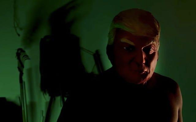 Маска Трампа - лишь один из многих тревожных образов в «Американской истории ужасов: вступительные титры культа»