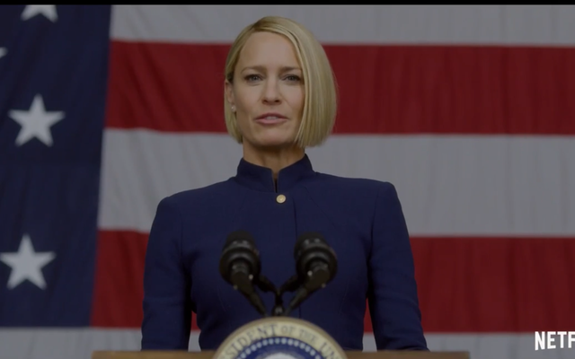 Robin Wright กล่าวว่า 'The Reign of the Middle-Aged White Man is over' in House of Cards