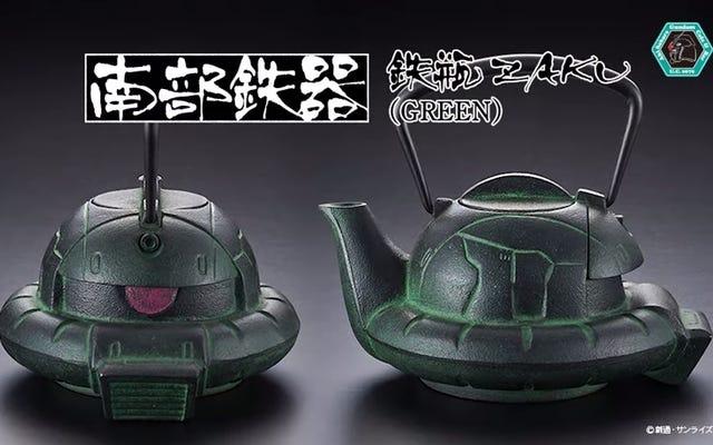 Zaku de Gundam hace una tetera japonesa bastante buena