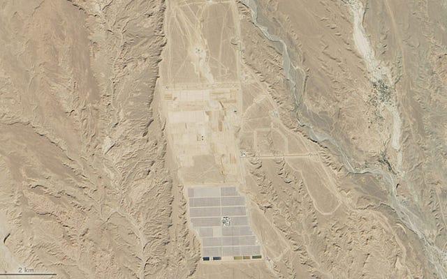 Sahra Çölü'nde Devasa Bir Güneş Enerjisi Santrali Şekilleniyor