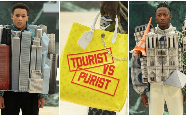 Ser aplastado por los edificios: lo último de Virgil Abloh para Louis Vuitton Menswear es ... un viaje