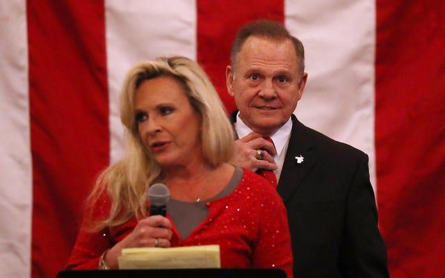 ヘルペスのように、彼は戻ってきました:告発された児童性的虐待ロイ・ムーアは、上院議席のためにダグ・ジョーンズに挑戦するために共和党候補を率いています