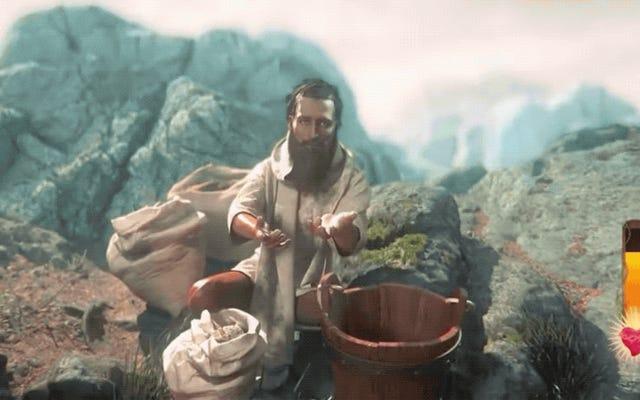 Jest teraz gra, w której z jakiegoś powodu dosłownie grasz w Jezusa Chrystusa