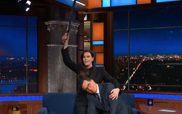 ลิฟไทเลอร์ทำให้ความฝันของสตีเฟนฌ็องเป็นจริงในรายการ The Late Show