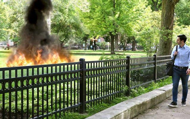 आदमी यह याद रखता है कि गर्मियों में संक्रांति के बाद पगानों के समूह को काम करने के रास्ते में आग की अंगूठी में कमबख्त किया जाता है