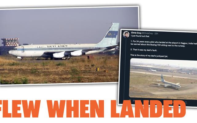 La historia del avión abandonado en un depósito de chatarra del padre de un chico en un aeropuerto de la India es fascinante