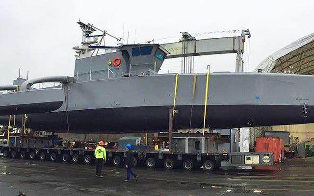 DARPAは最先端のサブハンタードローン船の公式画像をリリースしました
