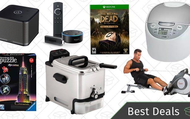 Najlepsze oferty ze środy: głośniki do wielu pomieszczeń, złote pudełko Puzzle, sprzęt fitness i nie tylko