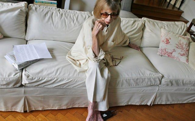ジョーン・ディディオンは、彼女のセリーヌ広告に興奮していることを気にしませんでした