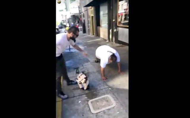 Il campione UFC Khabib Nurmagomedov pubblica un video grossolano che deride i senzatetto