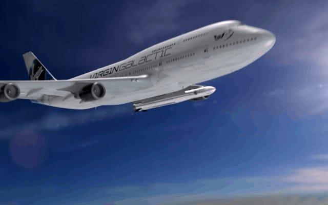 ヴァージンギャラクティックがボーイング747型機から直接宇宙に衛星を打ち上げる