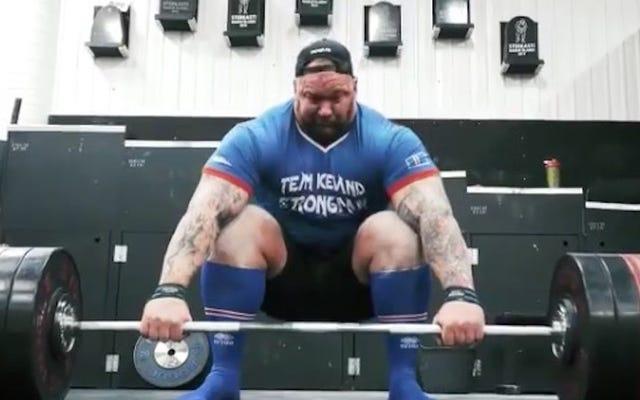 Hafþór Björnsson, Rowdy Dostları Vahşileşirken 1.000 Pound Yüklendi