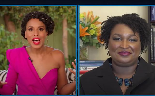 彼女のDNC演説の前に、ステイシーエイブラムスはケリーワシントンの有権者抑圧サバイバルのヒントを与えます