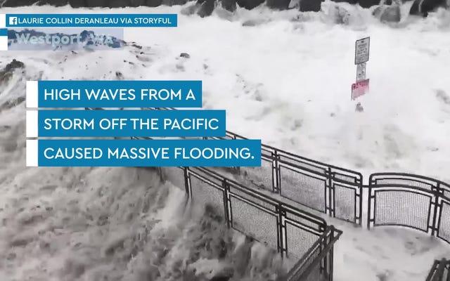 北西部を襲うこれらの非常識な波を見てください