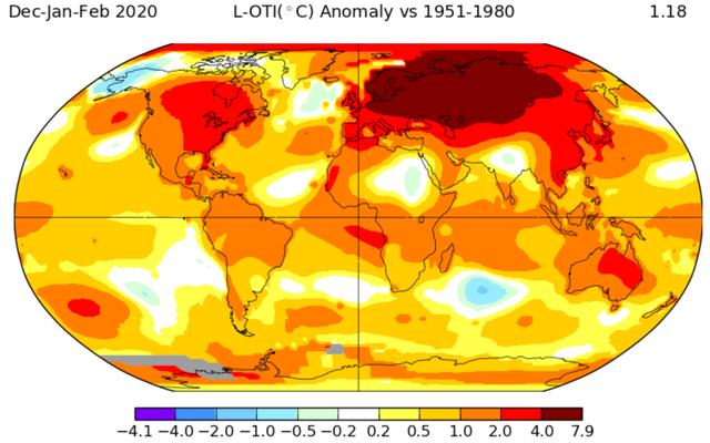 ロシアは最も暑い冬の記録を破りました