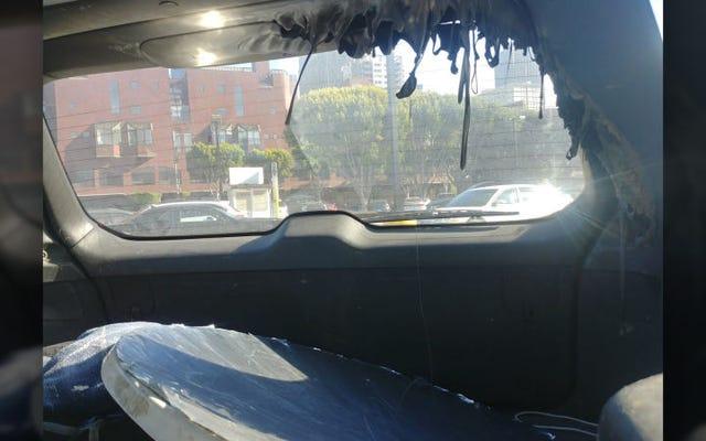 これが、晴れた日に巨大な放物線状の鏡を車の中に置いたままにしない理由です。
