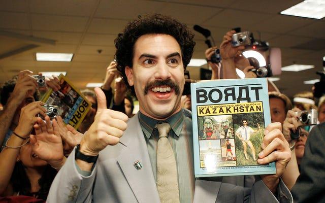 Sacha Baron Cohenは、5日間連続でBoratである必要があることに対する「パニック発作」を思い出します