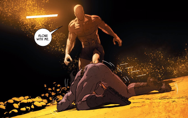 ベインとバットマンの背中はちょうど再戦した