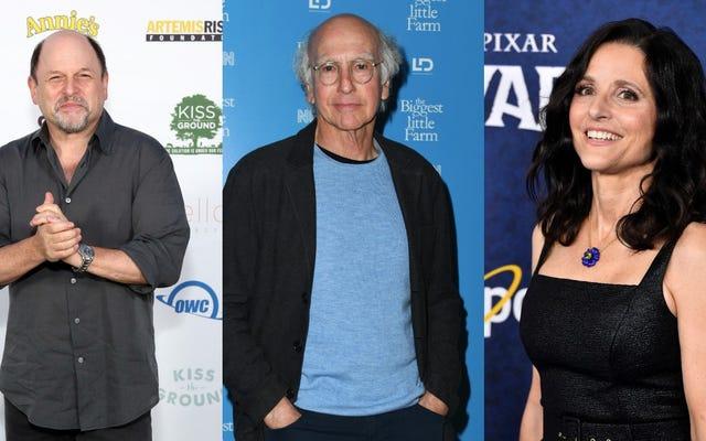 """Julia Louis-Dreyfus, Jason Alexander e Larry David si riuniscono per una """"raccolta fondi su qualcosa"""""""