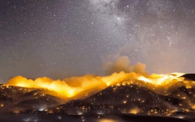Questo timelapse di incendi californiani è assolutamente apocalittico