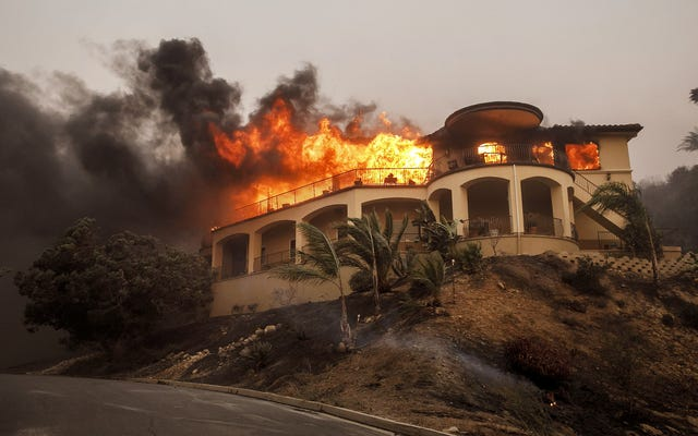 Władze wzywają mieszkańców hrabstwa Orange do zaprzestania budowy nowych domów w obecnie płonących domach