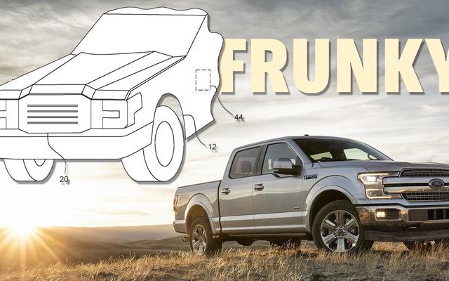特許は電気フォードF-150がかなり大きなフランクを手に入れようとしていることを示しています
