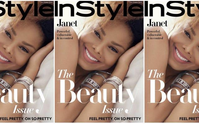 今のところ作られました:ジャネットジャクソンの美しさは10月のインスタイルで永遠です