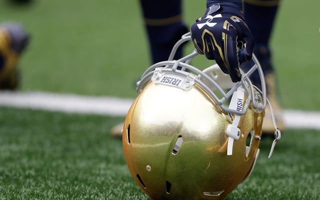 소송: Notre Dame은 축구 선수가 저지른 성폭행 혐의를 은폐했습니다.
