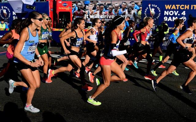 マラソン中にプロポーズしないでください