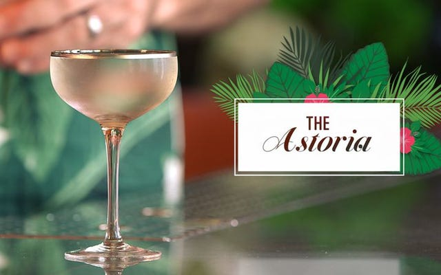 Resep martini berusia seabad dihidupkan kembali dalam koktail Astoria yang lembut dan lembut